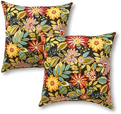 Greendale Home Fashions 17 in. Outdoor Accent Pillow set of 2 , Jungle