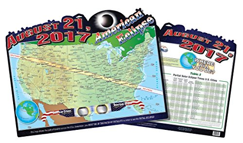 American Eclipse Map  Poster