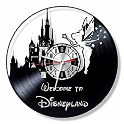 NiceIdeas4Home FAIRY wall clock made from vintage vinyl record wonderful handmade gift for your loved one