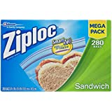 Smart Zip Ziploc Sandwich Bag Value mega pack 280 bags