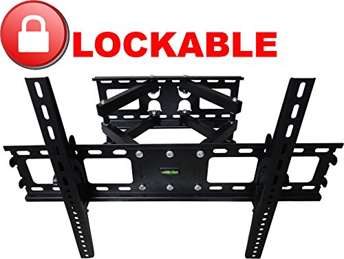 Impact Mounts Lockable Dual Arm Articulating Full Motion Swivel Lcd Led Plasma Tv Wall Mount Bracket 40 42 46 47 50 55 56 57 60 65 70 75 80 Locking Lock (Impact Locking Locks)