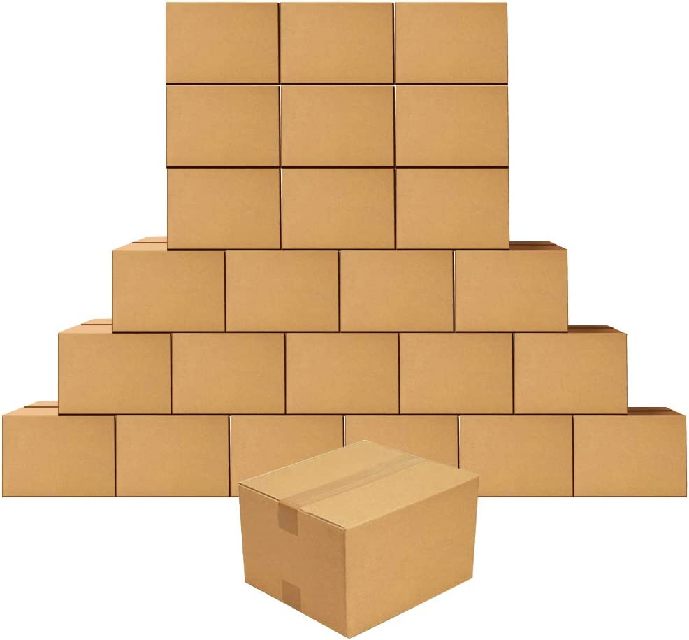 25 PACK 6X6X4 CARDBOARD PAPER BOXES PREMIUM PACKING SHIPPING CORRUGATED CARTON