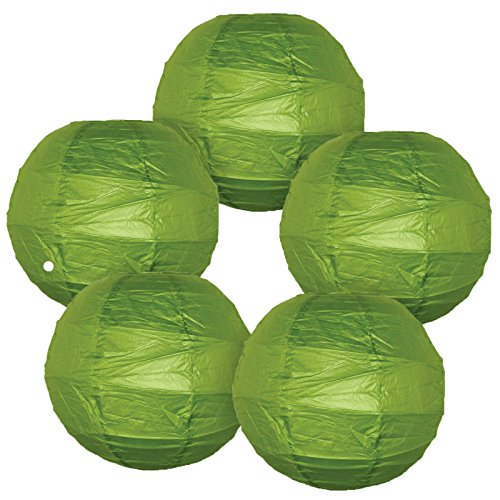 Just-Artifacts-Criss-Cross-Paper-Lanterns-Set-of-5-8inch-Grass-Green-Click-For-More-Colors-Sizes
