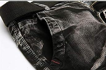 Minghe Mens Outdoor Cargo Short Loose Camo Multi-Pocket Short