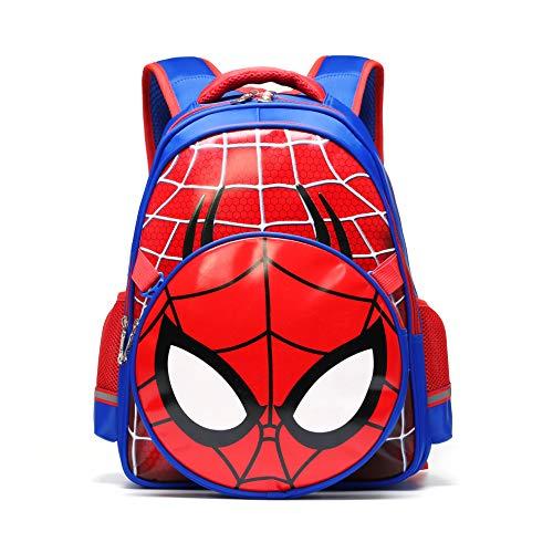 Waterproof Kindergarten Child Book Bag Durable Boy School Bags for Kid Girl Elementary Student Backpack Bookbags for Children (Spiderman, Large)