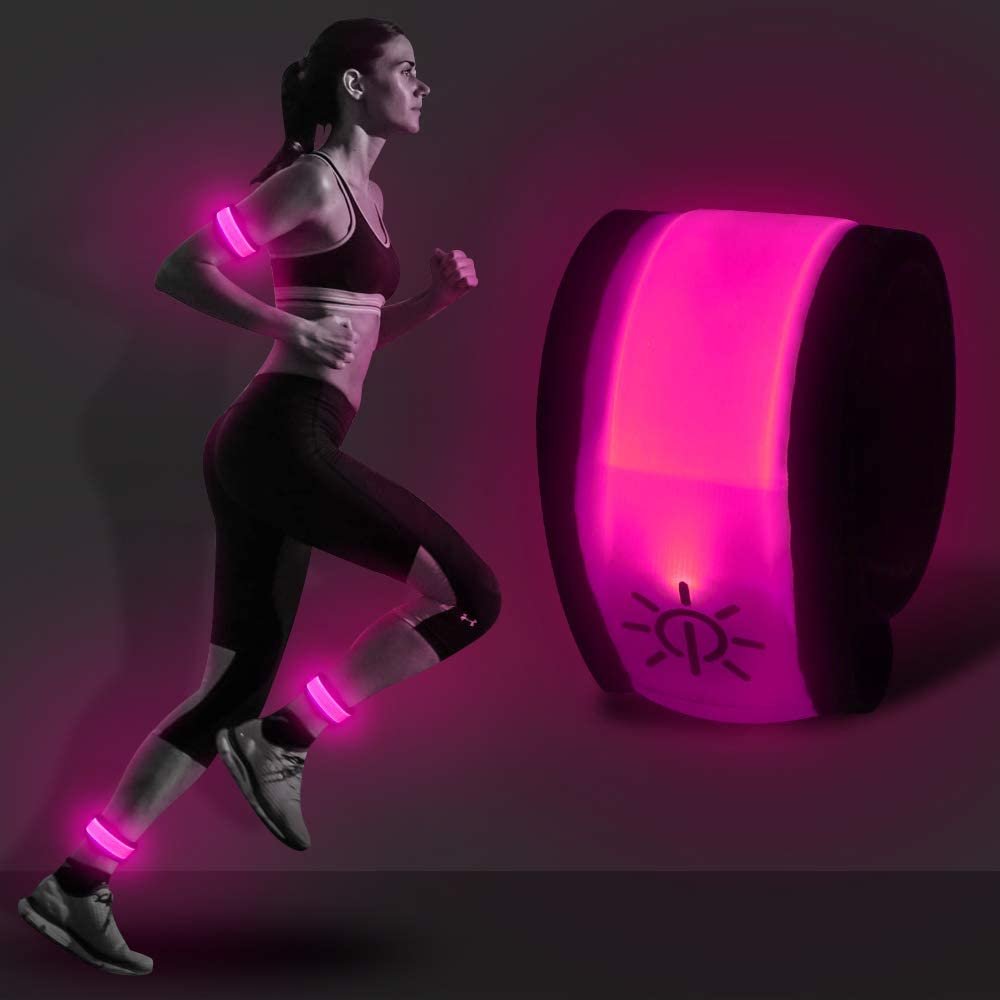 Led Band, Comfortable Light Up Wristband, Water/Sweat Resistand Glow Bracelet Longer Version Band for Cycling Walking Running Concert Camping Outdoor Sports