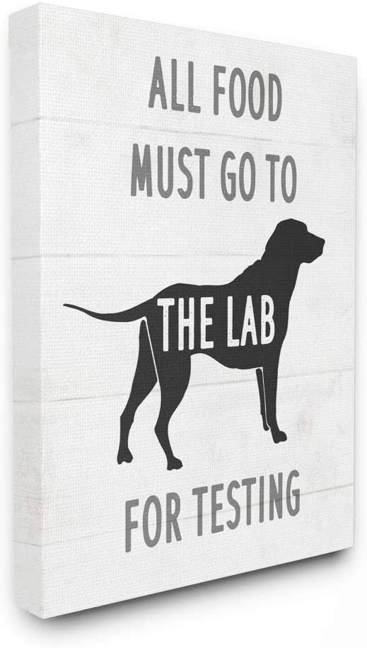 Stupell Industries Kitchen All Food to The Lab Animal Dog Pun, Designed by Daphne Polselli Wall Art, 16 x 20, Canvas