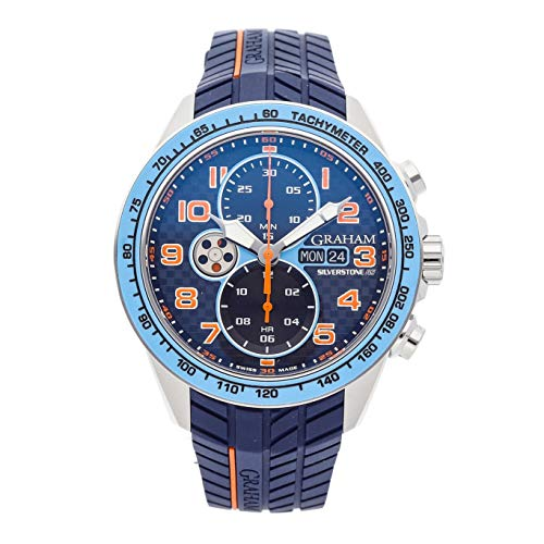 Graham Silverstone Mechanical (Automatic) Blue Dial Mens Watch 2STEA.U05A.K117F (Certified Pre-Owned)