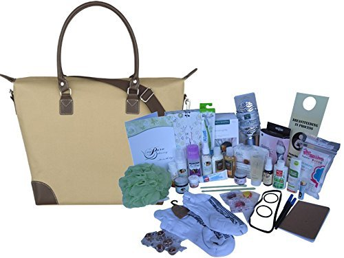 Natural and Organic Deluxe Prepacked Hospital Labor Bag: - Baby Shower Gift by My Pure Delivery