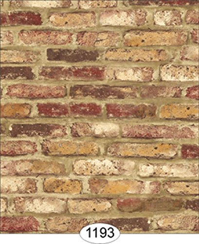 Dollhouse Wallpaper Weathered Brick Black