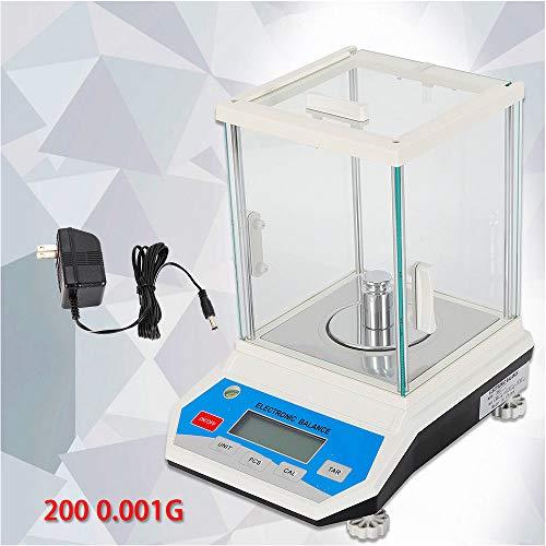 - 200 x 0.001 g Lab Analytical Balance Digital High Precision Scale w/Windshield (US Stock)