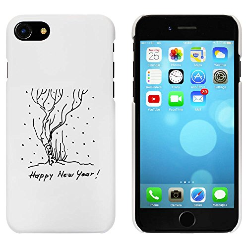 Blanc 'Happy New Year' étui / housse pour iPhone 7 (MC00067494)