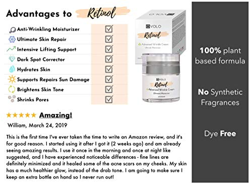 51wvvLjPgUL - OVOLO Moisturizer Cream with Retinol for Face and Eye Area - BEST NEW 2019 Skin Care Option Formulated with Premium Ingredients (USA Made) - Anti Aging Rapid Wrinkle Repair Cream for Day and Night