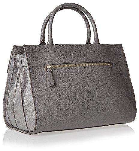 GUESS, Damen Handtaschen, Henkeltaschen, Umhängetaschen, Bowling-Bags, Grau, 34 x 23 x 13 cm (B x H x T)
