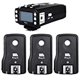Pixel King Pro TTL HSS LCD Flash Trigger for Nikon Camera and Speedlite Pixel X800N X800n pro (1 Transmitter+3 Receiver)