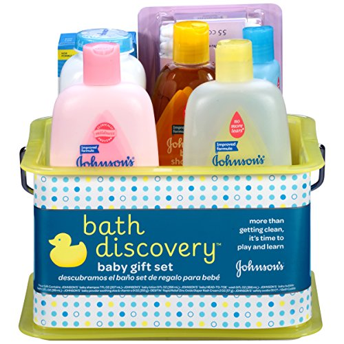 Johnson's Baby Bathtime Gift Set With Baby Shampoo 205 ml Baby Lotion 265 ml Head-To-Toe Body Wash 265 ml Baby Oil 90 ml Baby Powder Pure Cornstarch With Aloe And Vitamin E-9 oz (Baby Produkte; Baden und Körperpflege)