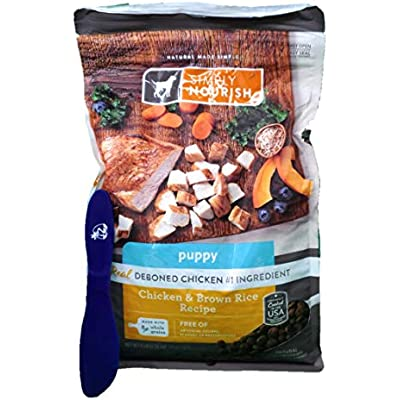 SIMPLY NOURISH Puppy Dry Dog Food, Chicken & Brown Rice, 5lbs & Especiales Cosas Spatula