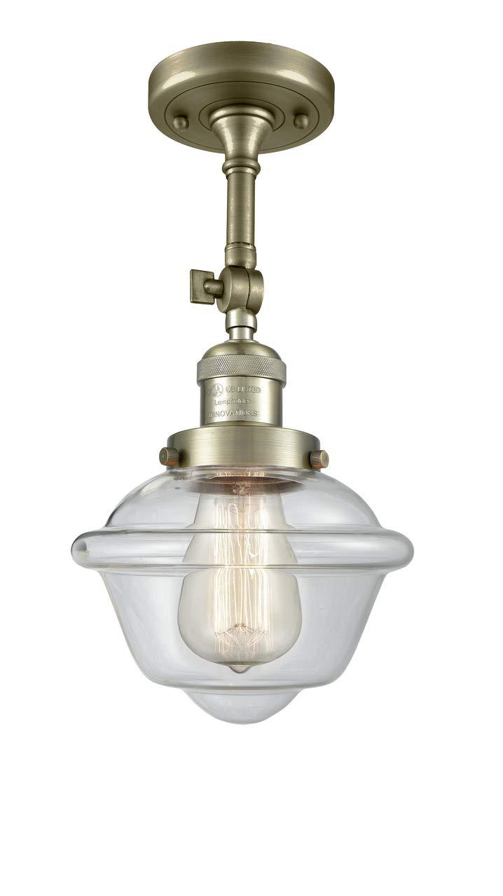 Innovations 201F-AB-G532-LED 1 Light Vintage Dimmable LED Semi-Flush Mount Antique Brass