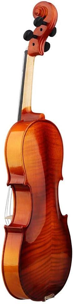 ACHKL Tiger light spruce wood viola high-grade solid wood musical instruments ACHKL Color : Tiger pattern-410mm