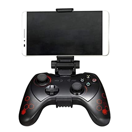 HUZHAO Gamepad, Bluetooth Gamepad with Vibration, Turbo, Sleep Function for Android Smart TV