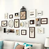 LQQGXL Photo wall children's room wood combination creative restaurant frame wall decoration luxury Photo frame ( Color : Brown )