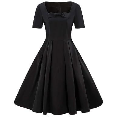 Amazon.com: HULKAY Womens Plus Size Dresses Sale, Retro Short Sleeve ...