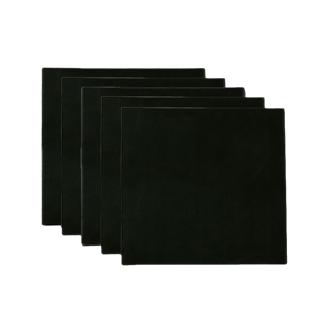 Salome Idea 30x30CM (12x12 Inch) Artist Square Stretched Canvas, Middle Size Pre-Stretched Cotton Canvas Panel Boards 5-Pack, Black