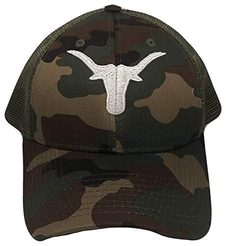 (THS Longhorns Mesh Golf Trucker Cap (One Size, Camouflage/White))