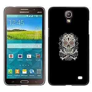 LECELL--Funda protectora / Cubierta / Piel For Samsung Galaxy Mega 2 -- Azúcar Skull & Bones --