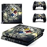 Hambur® Sony PlayStation 4 Skin Decal Sticker Set - NFL Pittsburgh Steelers (1 Console Sticker + 2 Controller Stickers)