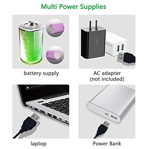 OPOLAR Battery Clip on Fan, Powered by USB or 2200mAh Rechargeable Battery, 360 Adjustable Wind, Personal Clip or Desk Fan with 3 Speeds, Multi Versatile for Office, Car, Baby Stroller and Outdoor by OPOLAR (Image #4)