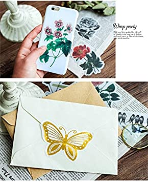 4pack Molshine 180pcs Irregular Shape Stickers-Green Potted Plant Series Decals for DIY,Personalize,Laptops,Scrapbook,Luggage,Diary Decoration,Books,Sealing