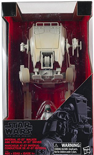 Hasbro Vehicle (Star Wars Imperial AT-ST Walker and Imperial AT-ST Driver Action Figures The Black Series Exclusive)