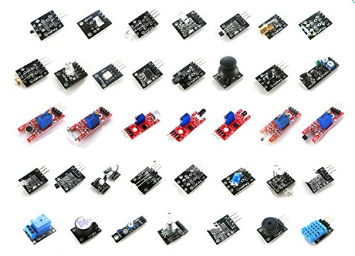 LANDZO 37 in 1 Sensors Modules Kits for Arduino UNO R3 Mega 2560 Mega Nano ()