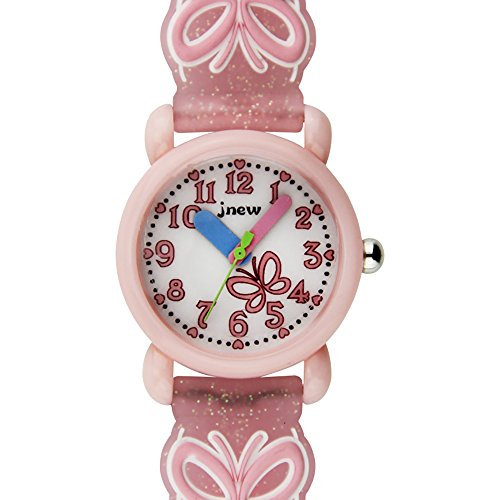 TIDOO Children Time Teacher Waterproof 3D Cute Cartoon Silicone Butterfly Wristwatches for Kids by TIDOO (Image #1)