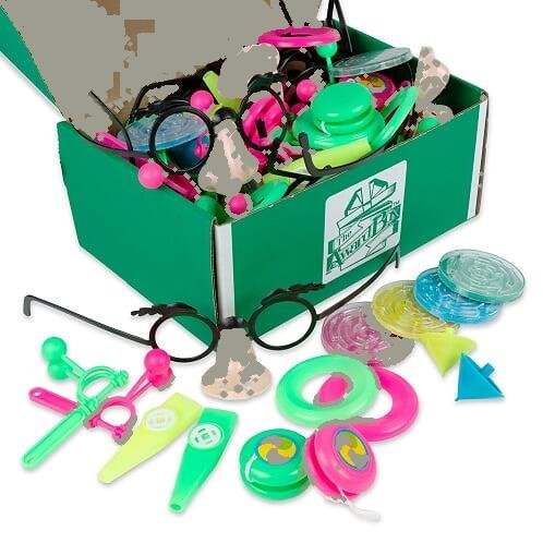 The Award Box- Prize Box Party Favor Stocking Stuffer- Over 128 Assorted Kid Prizes, Fidget Spinner and More. Great For Parents, Teachers, Therapists, Doctor's Offices or Parties by The Award Box (Image #3)