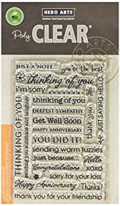 Hero Arts Everyday Sayings Stamp Set, Clear
