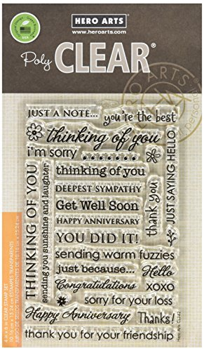 Hero Arts Everyday Sayings Stamp Set, Clear by Hero Arts
