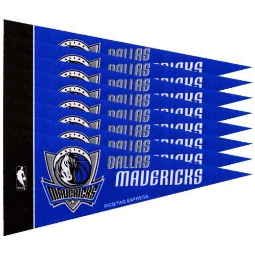 """NBA Dallas Mavericks Royal Blue 8-Pack 4"""" x 9"""" Mini Pennant Set"""