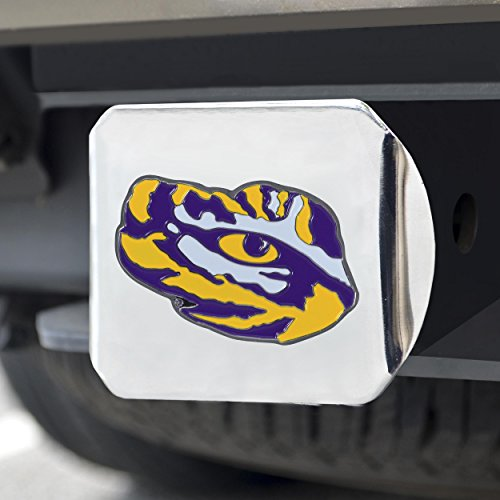 FANMATS NCAA LSU Tigers Louisiana State Universitycolor Hitch - Chrome, Team Color, One Size