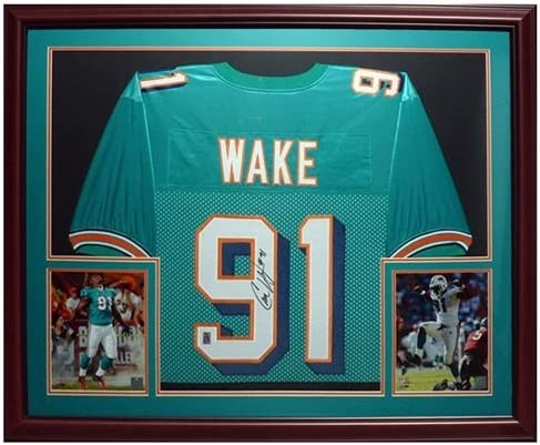 Cameron Cam Wake Autographed Miami Dolphins (Teal #91 ...