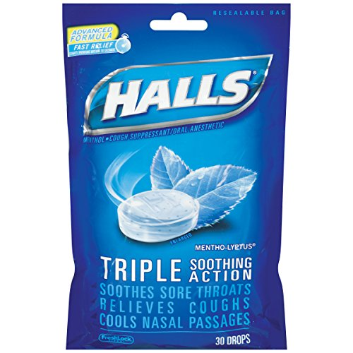 Halls Mentho-Lyptus Menthol-Cough Suppressant/Oral Anesthetic, 30 ct Halls Mentho Lyptus Cough Suppressant