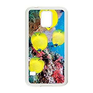 The Beatiful Yellow Fish Hight Quality Plastic Case for Samsung Galaxy S5