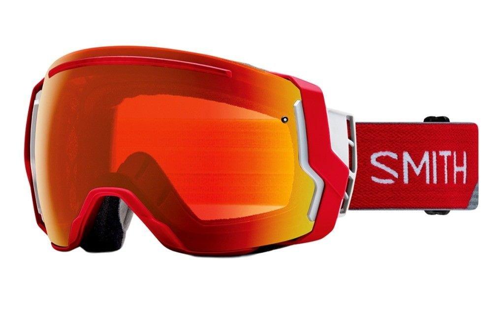 Smith Optics Adult I/O 7 Snowmobile Goggles Fire Split / ChromaPop Everyday Red Mirror by Smith Optics
