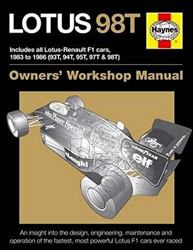 Lotus 98T: Includes all Lotus-Renault F1 cars, 1983 to 1986 (93T, 94T, 95T, 97T & 98T) (Owners' Workshop Manual) (Car F1 Guide)
