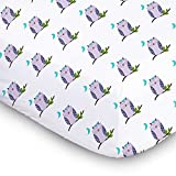 1 Fitted Muslin Cotton Baby Crib Sheets For Better Sleep. Premium, Soft, & Breathable Cotton Sheets For Babies. Unisex Cute Prints For Infants, Toddlers.