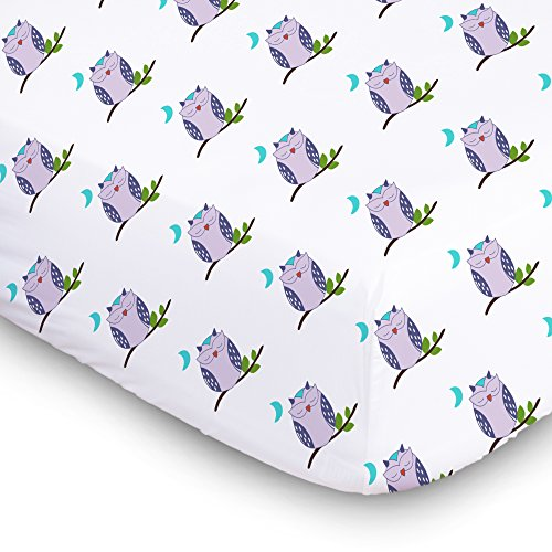 1 Fitted Muslin Cotton Baby Crib Sheets For Better Sleep. Premium, Soft, Breathable Cotton Sheets For Babies. Unisex Cute Prints For Infants, -