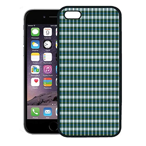 - Semtomn Phone Case for iPhone 8 Plus case,Blue Plaid Patterned of The Clan Campbell Dress Tartan Green Pattern Scotland iPhone 7 Plus case Cover,Black