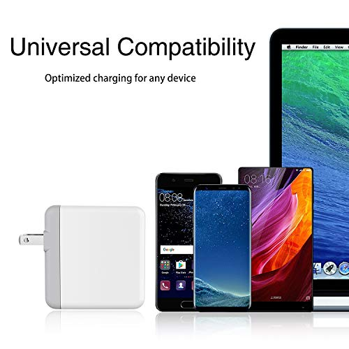 Onforu 61W USB C Power Adapter, UL Listed Power Delivery Wall Charger, Fast Charger for MacBook Pro Thunderbolt Port, iPad Pro, USB Type C Charging Laptop, Smartphone, etc (USB C-C Cable Included) by Onforu (Image #6)