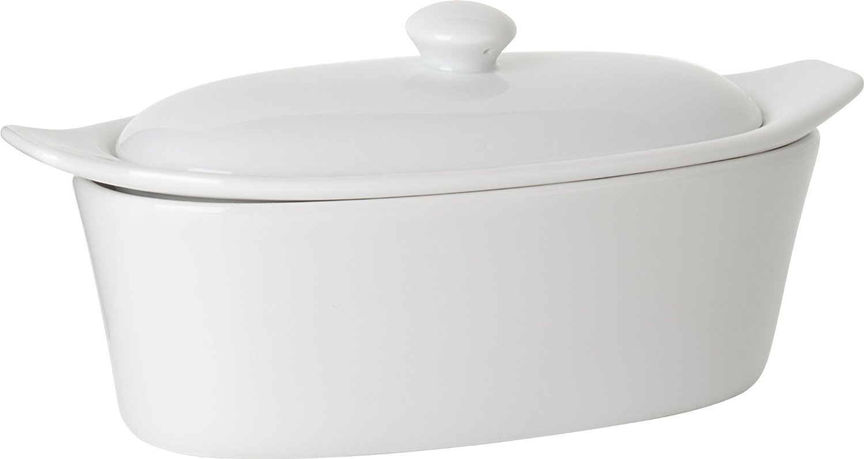 Trudeau 09607081A Porcelain Butter Boat, White